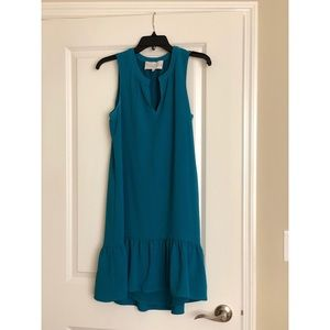 Charles Henry High/Low Ruffle Shift Dress Small